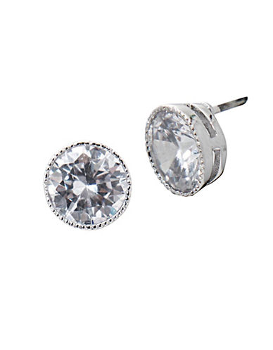 Lauren Ralph Lauren Social Set Cubic Zirconia Crystal Stud Earrings-WHITE-One Size