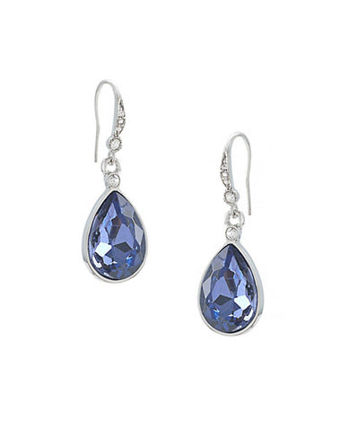 Carolee Royal Blue Faceted Drop Earrings-BLUE-One Size