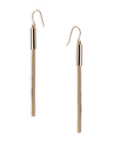 Lauren Ralph Lauren Barrel Linear Drop Earrings-GOLD-One Size
