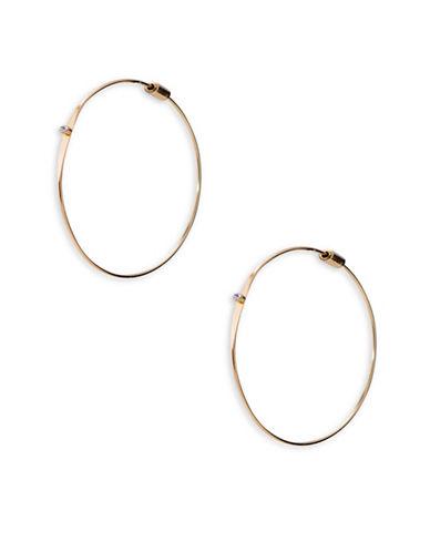 Lauren Ralph Lauren Crystal Hoop Earrings-WHITE-One Size