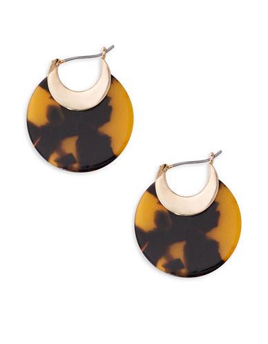 Lauren Ralph Lauren Tortoise Hoop Earrings-BROWN-One Size