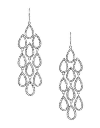 A.B.S. By Allen Schwartz Teardrop Chandelier Earrings-SILVER-One Size