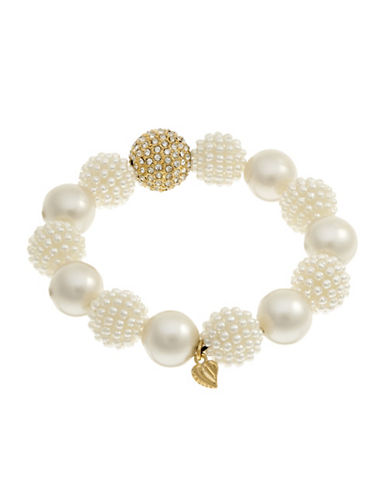 Carolee Stretch Ball Bracelet-WHITE-One Size