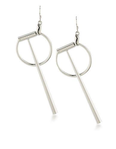 Trina Turk Silver Lining Geometric Linear Drop Pierced Earrings-SILVER-One Size
