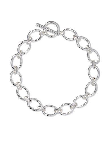 Lauren Ralph Lauren Oval Link Necklace-SILVER-One Size