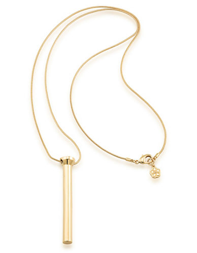 Trina Turk Psychedelica Linear Pendant Necklace-YELLOW-One Size