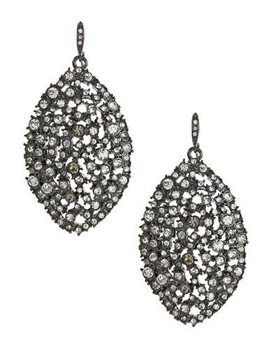 A.B.S. By Allen Schwartz Navette Cluster Drop Earrings-SILVER-One Size