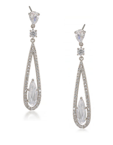 Carolee The Diana Long Linear Pierced Earrings-SILVER-One Size