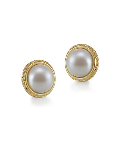 Carolee Pearl Button Clip Earrings-WHITE-One Size