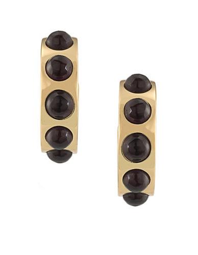 Trina Turk Neo Goth 14K Goldplated Brass Cap Hoop Earrings-PURPLE-One Size