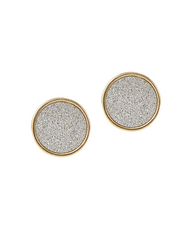 A.B.S. By Allen Schwartz Framed Glitter Stud Earrings-TWO TONE COLOUR-One Size