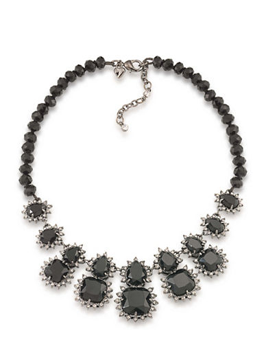 Carolee Gotham Hematite-Tone Statement Necklace-BLACK-One Size