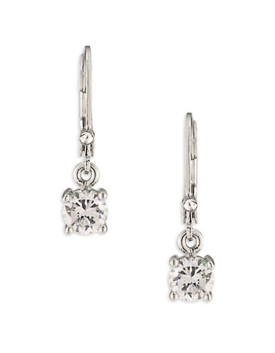 Carolee East Side Czech Glass Drop Pierced Earrings-WHITE-One Size