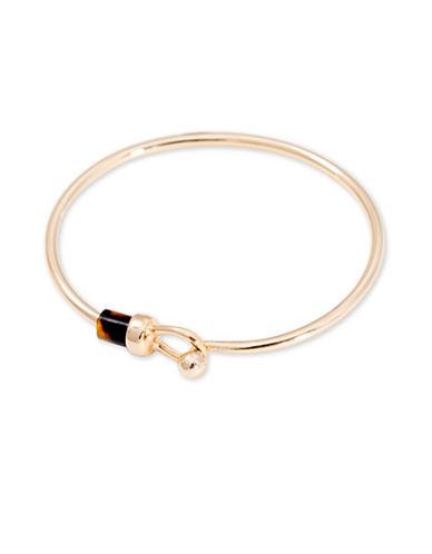 Lauren Ralph Lauren Riding High Wire Bangle Bracelet-GOLD-One Size
