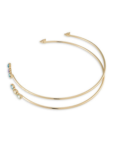 A.B.S. By Allen Schwartz Colour Binge Two-Piece Open Choker Necklace Set-GOLD-One Size