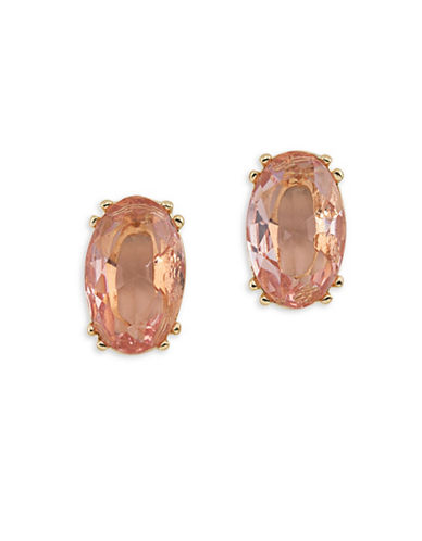 Carolee Cosmo Oval Stud Pierced Earrings-PINK-One Size