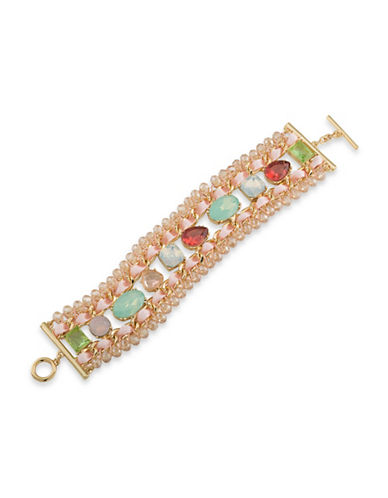 Carolee Cosmo Statement Woven Bracelet-MULTI-One Size