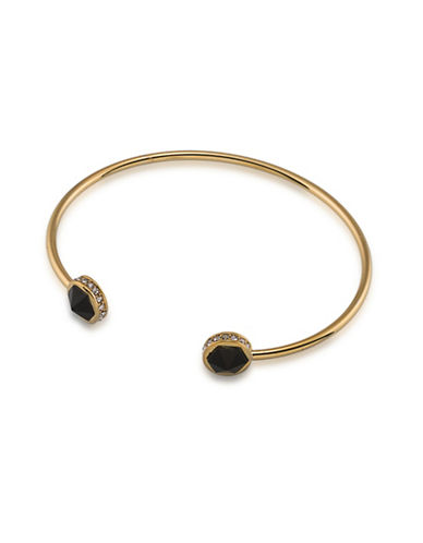 Lauren Ralph Lauren Match Point Goldplated Point Cuff Bracelet-BLACK-One Size