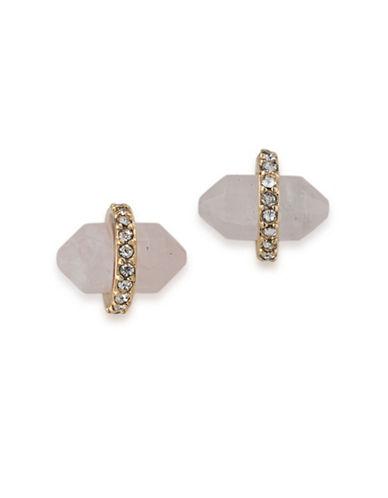 Lauren Ralph Lauren Match Point Goldplated Pink Bullet Stud Earrings-PINK-One Size