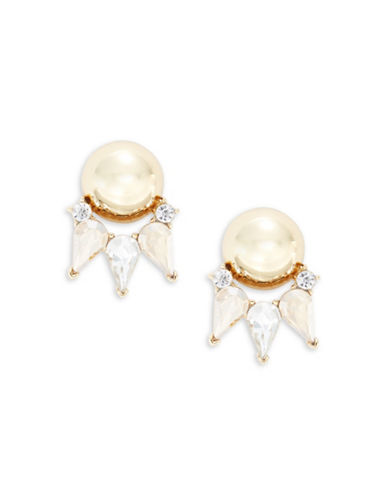 Trina Turk Sparkle and Shine Topaz Button Earrings-TOPAZ-One Size