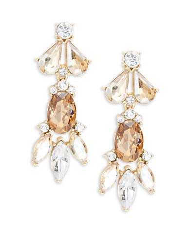 Trina Turk Sparkle and Shine Statement Cluster Drop Earrings-TOPAZ-One Size