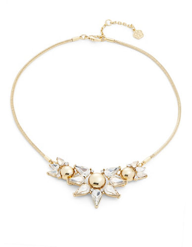 Trina Turk Sparkle and Shine Cluster Frontal Necklace-GOLD-One Size
