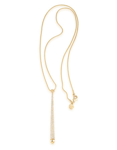 Trina Turk Sparkle and Shine Pave Pendant Necklace-GOLD-One Size