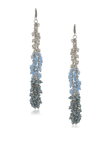 A.B.S. By Allen Schwartz Vibrant Vibes Beaded Linear Drop Earrings-BLUE-One Size