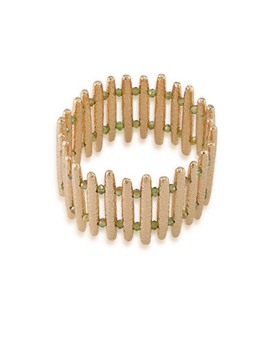 A.B.S. By Allen Schwartz Vibrant Vibes Bar Stretch Bracelet-GOLD-One Size