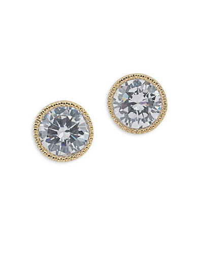 Lauren Ralph Lauren Bridal Goldtone Stud Earrings-WHITE-One Size