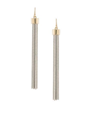 Trina Turk Tassel Linear Drop Earrings-TWO TONE-One Size