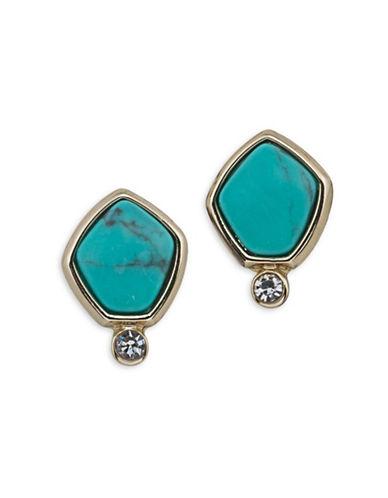 Lauren Ralph Lauren Turquoise and Caicos Stud Pierced Earrings-BLUE-One Size