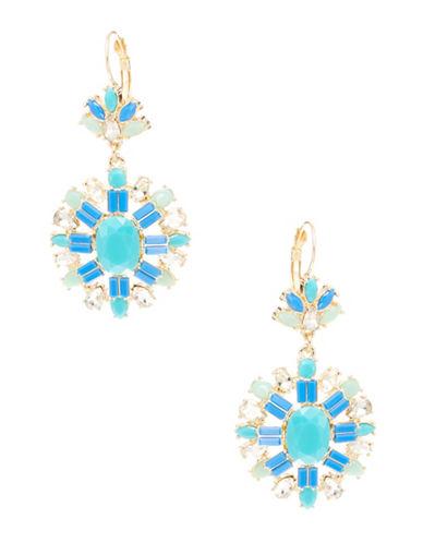 A.B.S. By Allen Schwartz Rhinestone Drop Earrings-BLUE-One Size