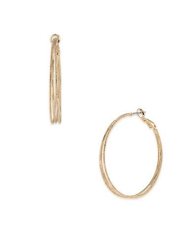 A.B.S. By Allen Schwartz Venice Beach 12K Goldplated Hoop Earrings-GOLD-One Size