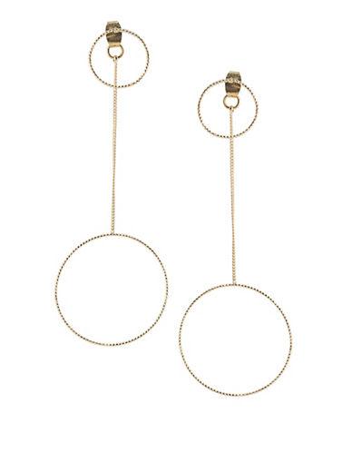 A.B.S. By Allen Schwartz Venice Beach 12K Goldplated Front-Back Drop Earrings-GOLD-One Size