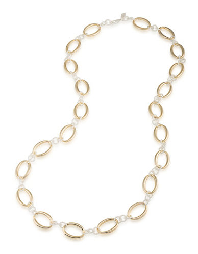 Lauren Ralph Lauren Perfect Pieces Dual-Toned Rope Necklace-TWO TONE-One Size