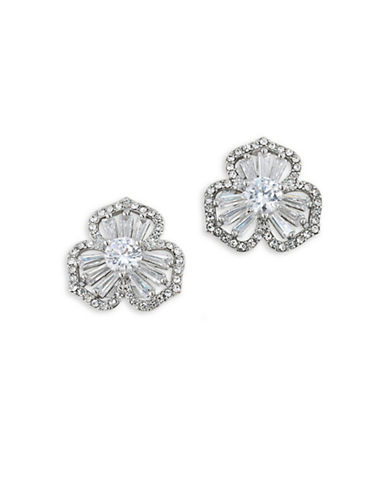 Carolee Something Borrowed 12K Goldplated Flower Stud Pierced Earrings-CRYSTAL-One Size