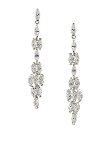 Carolee Something Borrowed 12K Goldplated Linear Drop Earrings-CRYSTAL-One Size