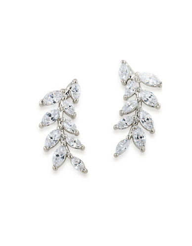Carolee 12K Goldplated Ear Climber Earrings-CRYSTAL-One Size