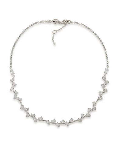 Carolee Something Borrowed 12K Goldplated Collar Necklace-SILVER-One Size