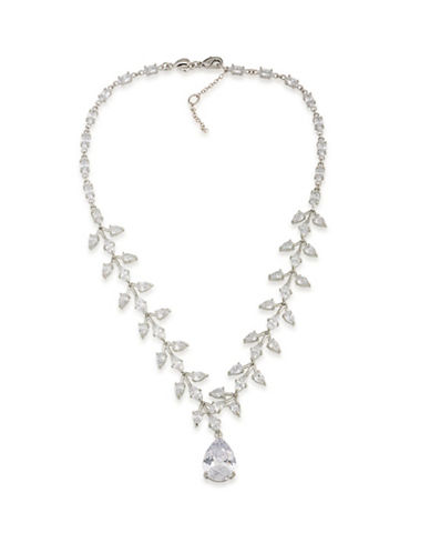 Carolee Vine Drama Necklace-CRYSTAL-One Size