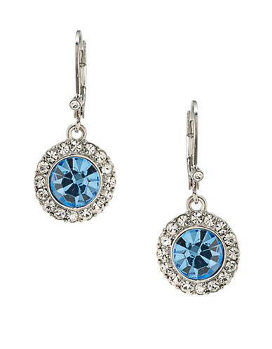 Carolee Something Blue Silvertone Drop Earrings-BLUE-One Size