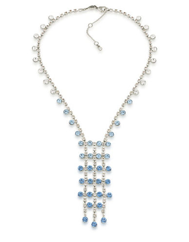 Carolee Something Blue Silvertone Y-Necklace-BLUE-One Size