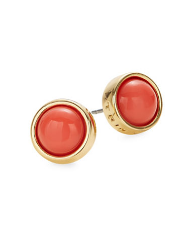 Trina Turk Semi-Set Cabochon Stud Earrings-ORANGE-One Size