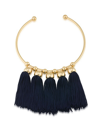 Trina Turk Mojito Nights Tassel Drop Bangle-NAVY-One Size