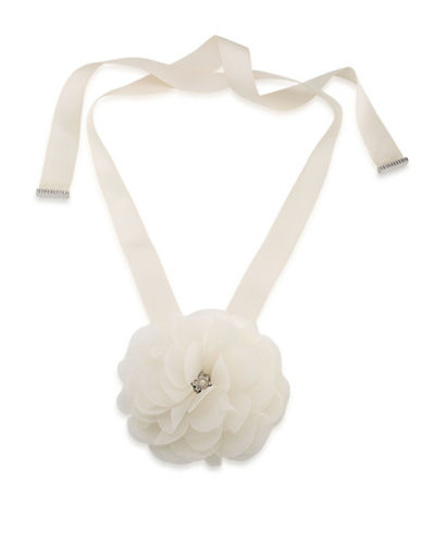 Carolee Icing on the Cake Faux Pearl, Nickel-Free Floral Choker-WHITE-One Size