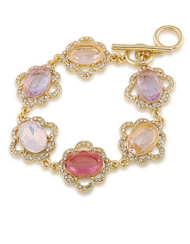 Carolee Bouquet Goldtone Flex Bracelet-MULTI-One Size