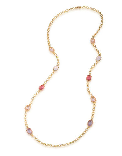 Carolee Bouquet Goldtone Illusion Necklace-MULTI-One Size
