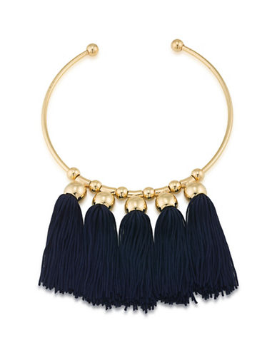 Trina Turk Mojito Nights Navy Tassel Collar Necklace-NAVY-One Size