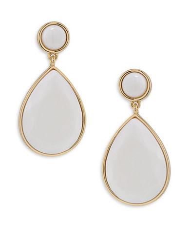 Trina Turk Mojito Nights White Double Drop Pierced Earrings-WHITE-One Size